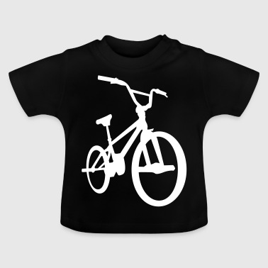 BMX - Bicycle Moto Cross - Fahrrad -Silhouette-Rad - Baby-T-shirt