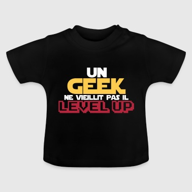 citations geek et gamer(level up) - T-shirt Bébé