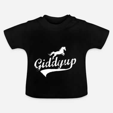 Springconcours Giddyup paardrijden springconcours - Baby T-shirt