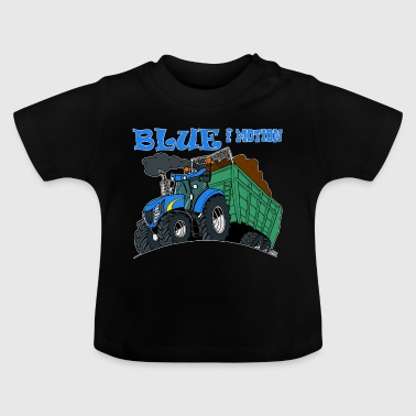 Blue in motion border - Baby T-Shirt