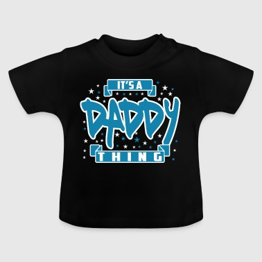 Daddy Daddy / Papa voorzijde - Baby T-shirt