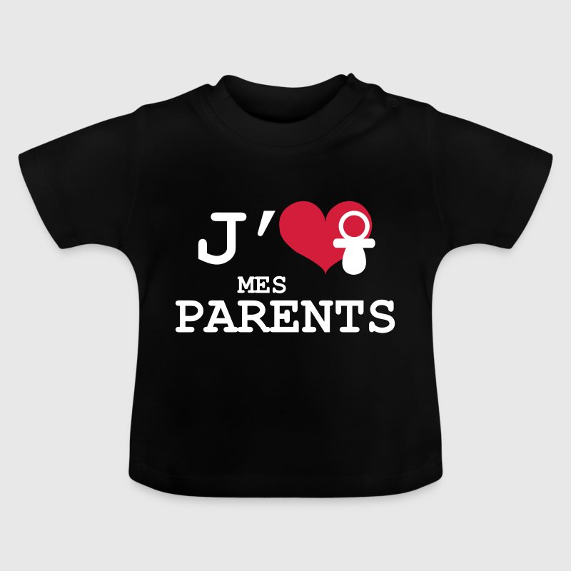 J'aime mes Parents - T-shirt Bébé