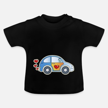 Kids Cheer Kids car toy car heart colorful cheerful children - Baby T-Shirt