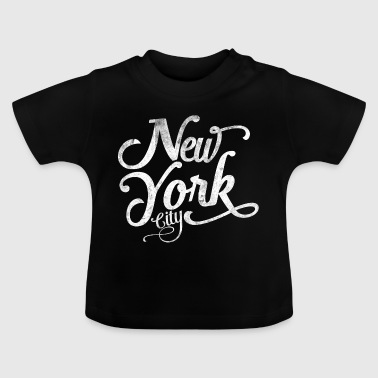 New York City tipografía - Camiseta bebé