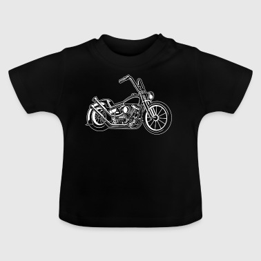 Chopper / Bobber Motorcycle 02_white - Baby T-Shirt