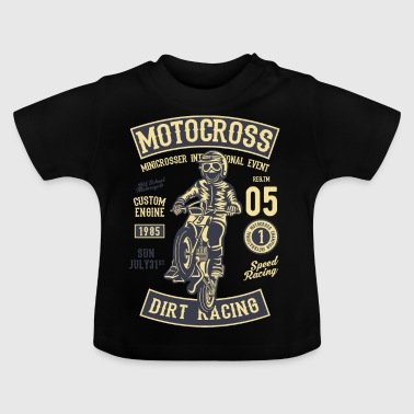 DIRT RACING MOTOCROSS - Cross Motorcycle Design Shirt - T-shirt Bébé