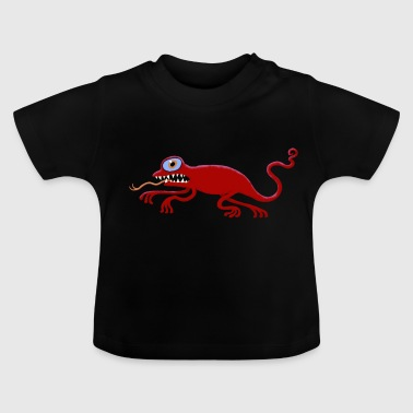 ulkige Echse-rot - Baby T-Shirt