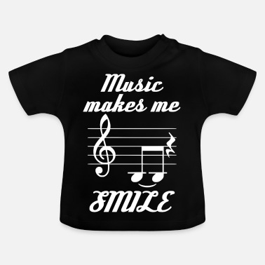 Muziek Music Make Me Smile - Baby T-shirt