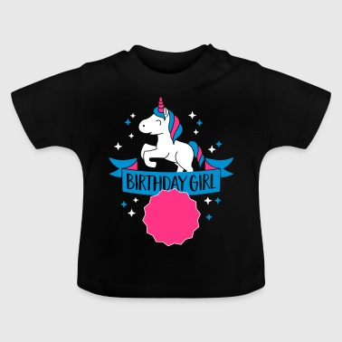Birthday Girl - Your Age - Camiseta bebé