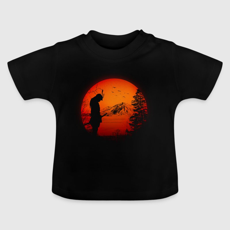 Japon Samurai Warriors - Japon/paysage/drapeau - T-shirt Bébé