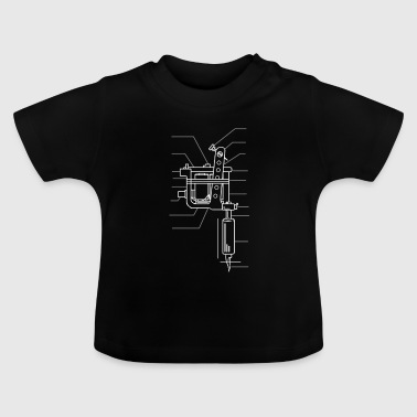 Tattoo Motive - Tattoo Machine - Tattooed Ink Ku - Baby T-shirt