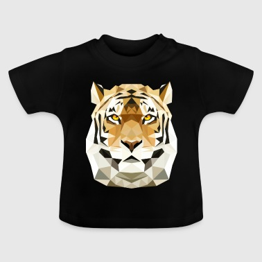 Tiger Cat poly low polygon predator cat - Baby T-Shirt