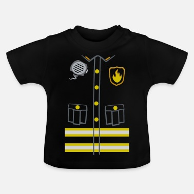Fireman Costume - Dark edition - Baby-T-shirt