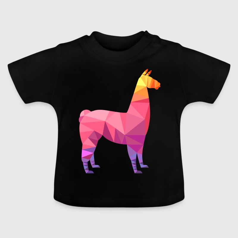 Llama Low Poly | Cool Geometric Design - Baby T-Shirt
