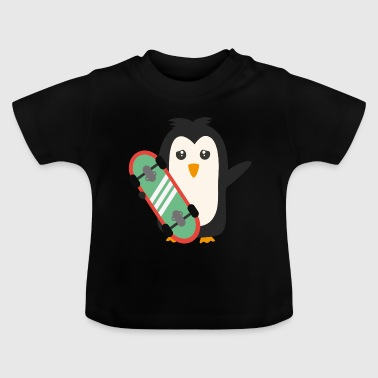 Skateboard Pinguin - Baby T-Shirt