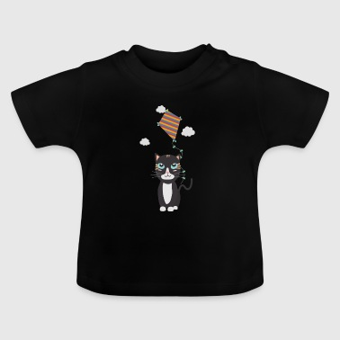 Katt med Dragon - Baby-T-shirt