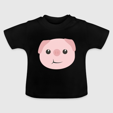 Cute kawaii piggy clausse - T-shirt Bébé