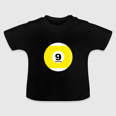 Billiard ball number 9 - Baby T-Shirt