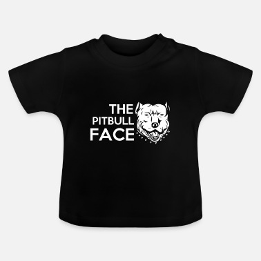 Satyr cute and funny the pit bull face - Baby T-Shirt