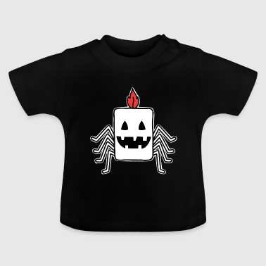 Candle halloween presentidé spindel monster - Baby-T-shirt