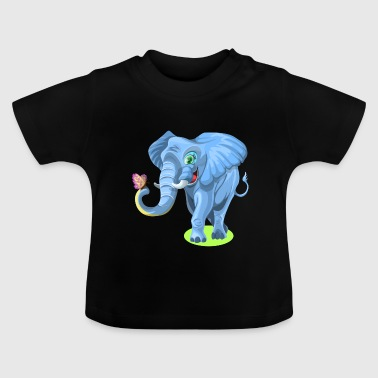 Animal Funny animal Éléphant papillon - T-shirt Bébé