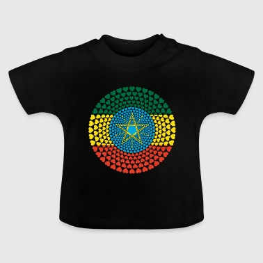 Ethiopia Ethiopia ኢትዮጵያ Love heart mandala - Baby T-Shirt