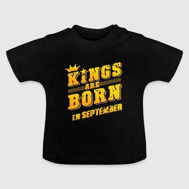 Kings født bursdag september gave Septe - Baby-T-skjorte