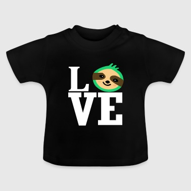Love love sloth animal love animal-loving animal lover - Baby T-Shirt