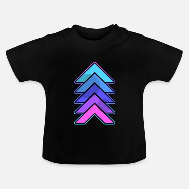 Neon Neon Triangles - Baby-T-shirt