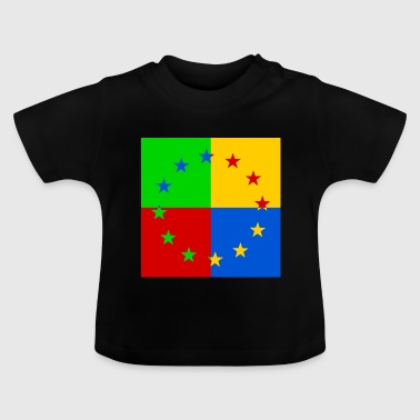 Europe star pop art - Baby T-Shirt