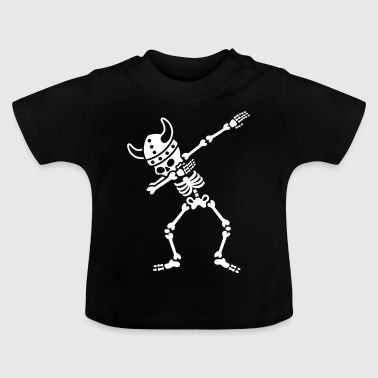 Skeleton Dab Dabbing Viking - T-shirt Bébé
