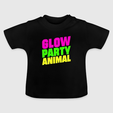 Glow Party Animals Bright neon colors fun - Baby T-Shirt