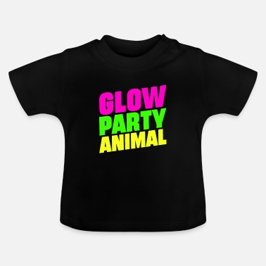 Neon Glow Party Animals Bright neon colors fun - Baby T-Shirt