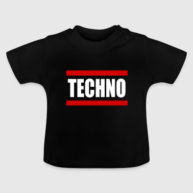 Techno Rave Music - Baby T-shirt