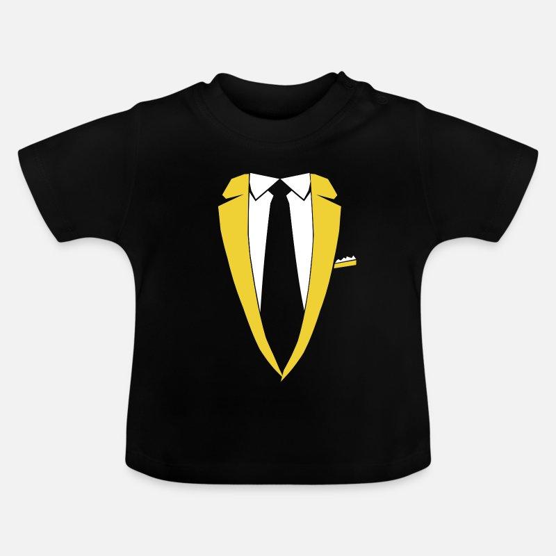 64740cefca64 Fastnacht Babykleidung - Sakko Krawatte Kostüm Party Edel Geschenk - Baby T- Shirt Schwarz