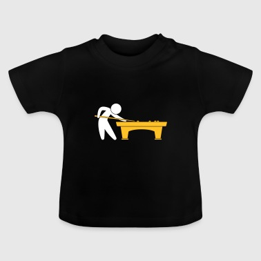 A Pool Player Is On The Pool Table - Baby T-Shirt