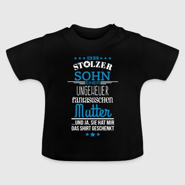 Beste Mutter Ungeheuer fantastische Mutter - Sohn - Baby T-Shirt