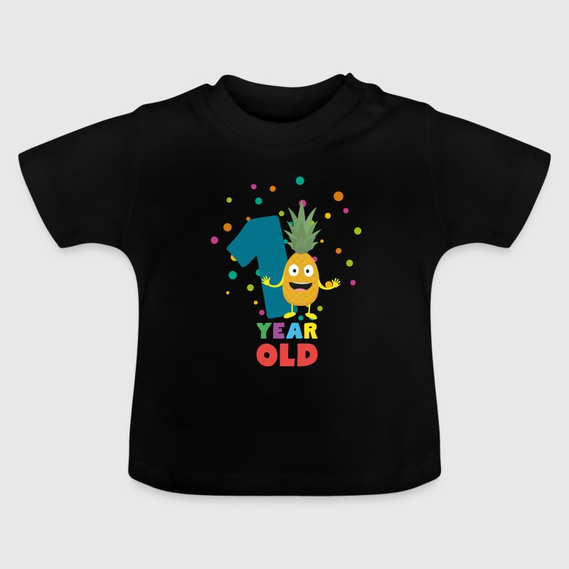 One Year old first Birthday Party Spuo7 - Baby T-Shirt