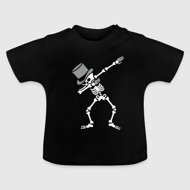 Dab Skeleton Bachelor party wedding high hat - Baby-T-shirt