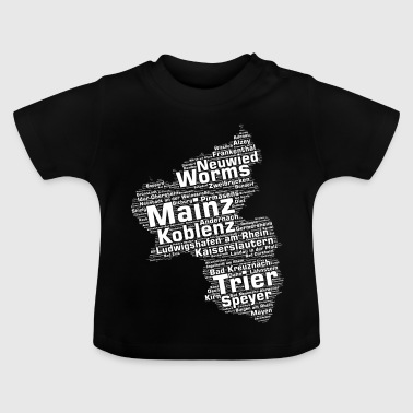 Rhineland-Palatinate federal state cities and municipalities - Baby T-Shirt