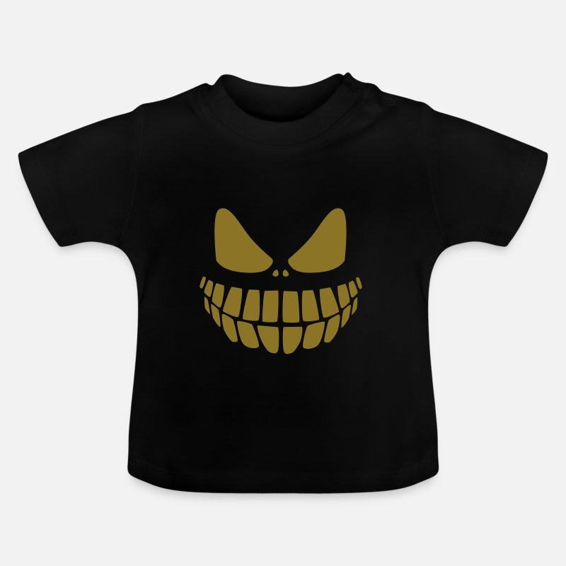 Cool Baby Clothing - evil smile - Baby T-Shirt black
