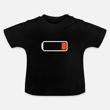 Battery Symbol Battery low - Baby T-Shirt
