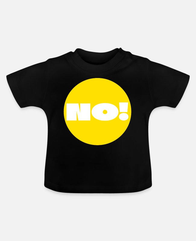 Alphabet Baby T-Shirts - Point, Yellow, answer, reply, question, Dot, Nerd - Baby T-Shirt Schwarz