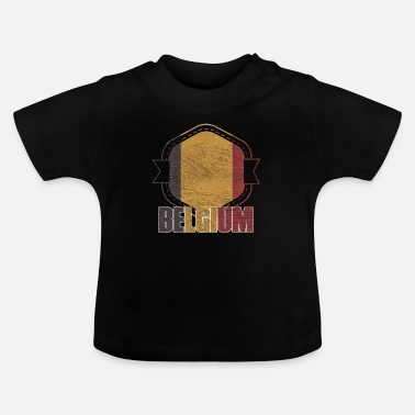 National Belgium national colors nation - Baby T-Shirt