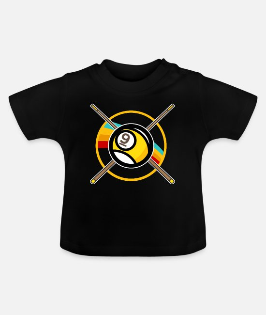 Billard Baby T-Shirts - Billard Billardkugel Billiard Snooker Queue Pool - Baby T-Shirt Schwarz