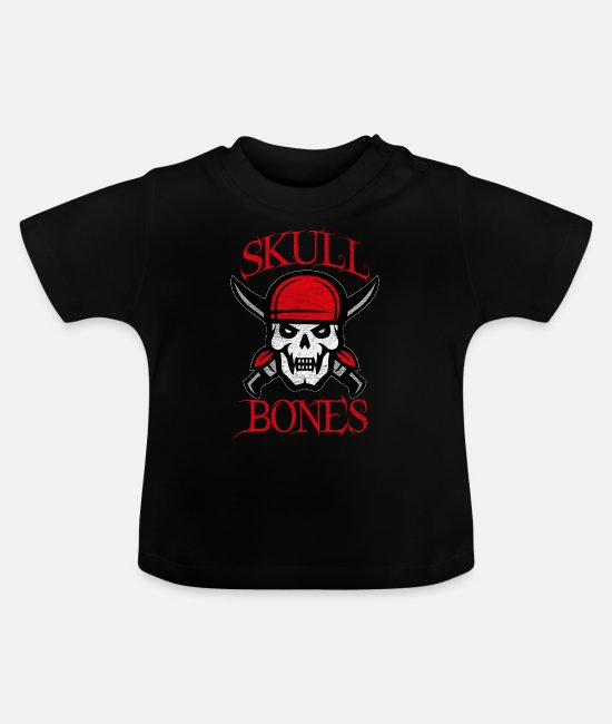 Pirate Baby Clothes - Pirate skull - Baby T-Shirt black