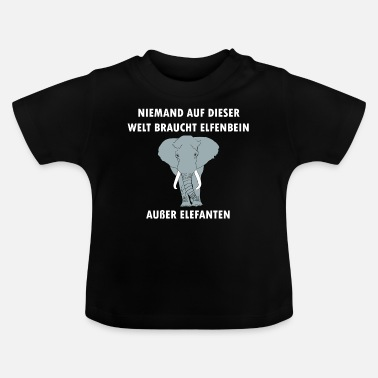 Elephant ivory animal trade animal welfare gift - Baby T-Shirt