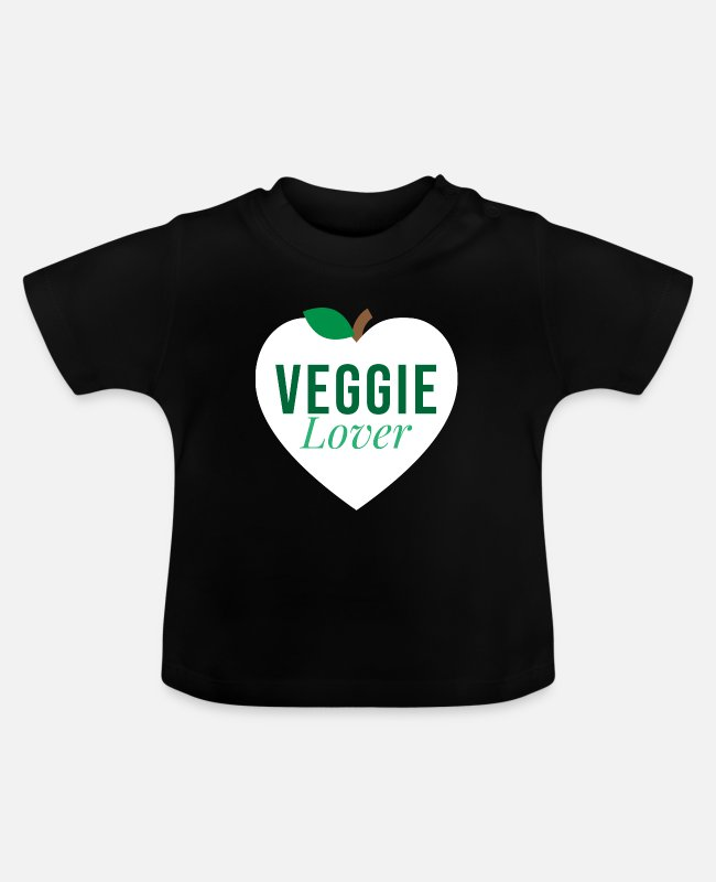 Vegetables Baby T-Shirts - Veggie Lover Vegetable Lover Vegetarian Vegan - Baby T-Shirt black