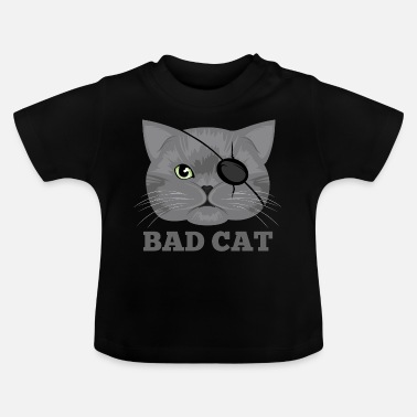 Eye Patch Cat with eye patch Cat - Baby T-Shirt