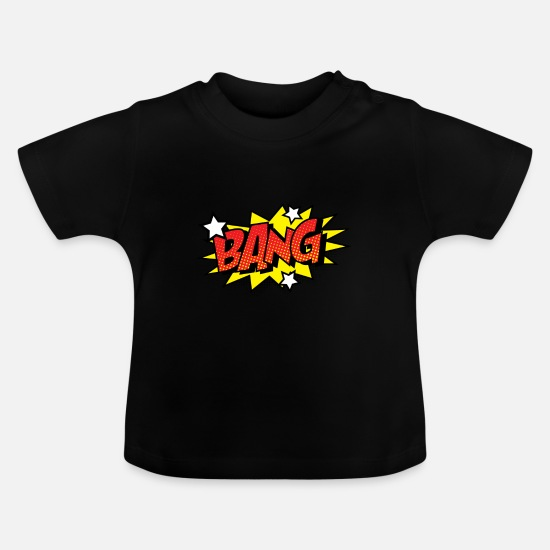Gift Idea Baby Clothes - Comic Comic Style Comic Strip BANG Big - Baby T-Shirt black